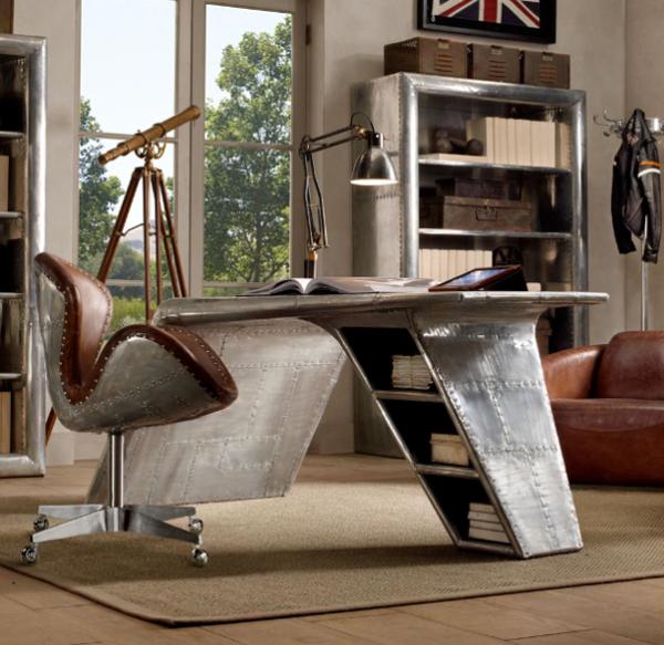 Modern Aviator Wing Desk