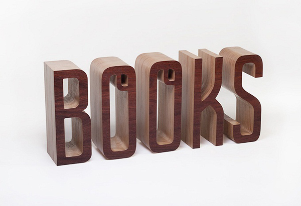 Wooden Typographic Bookshelf2