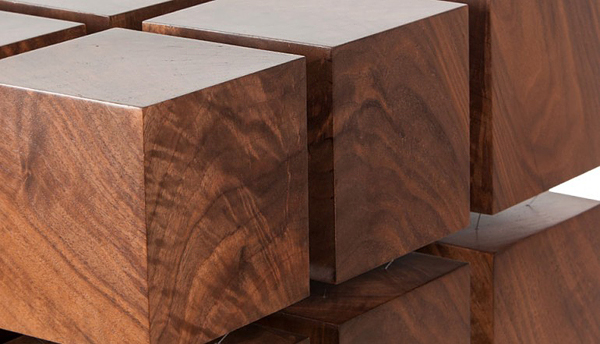 Wood Coffee Table Levitates via Magnet