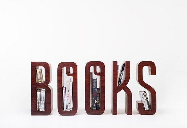 Wooden Typographic Bookshelf3