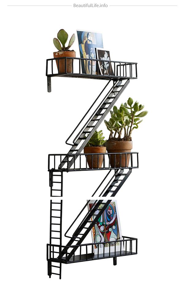 Fire Escape Wall Shelf6