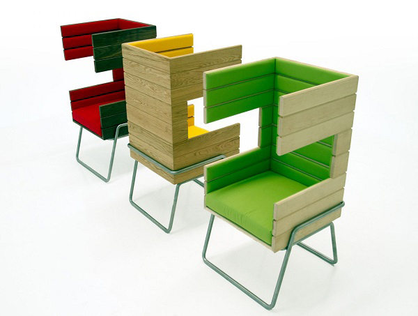 "Eye-Catching ""Gi Booth"" Chair by Jakob Gomez7"
