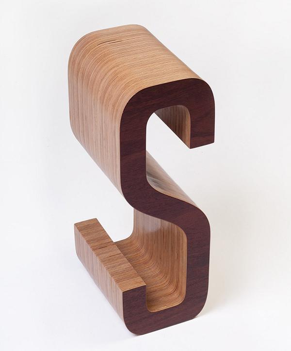 Wooden Typographic Bookshelf6