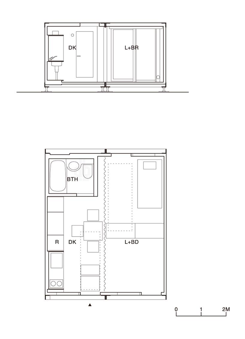建築家吉村靖孝氏がデザインしたコンテナハウス。9