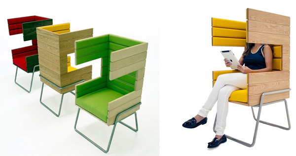 "Eye-Catching ""Gi Booth"" Chair by Jakob Gomez1"