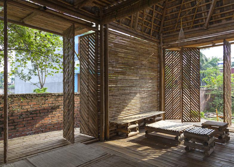 ベトナムに建てられた建物のほとんどが竹で出来た家「Blooming Bamboo Home」