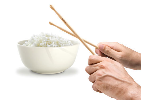 ドラムスティックと一体化したお箸「Fred & Friends Beat It Chopsticks Set」