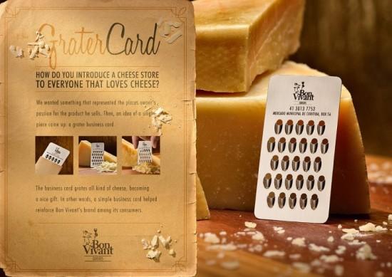チーズグレーター(チーズおろし金)になる名刺