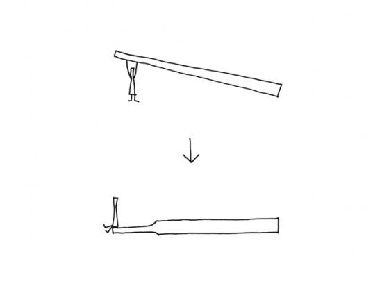 jikaoki テーブルに直に置ける箸