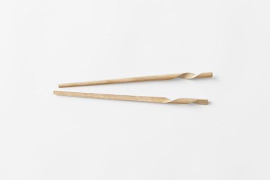 rassen 互いに巻きつく、1本の箸