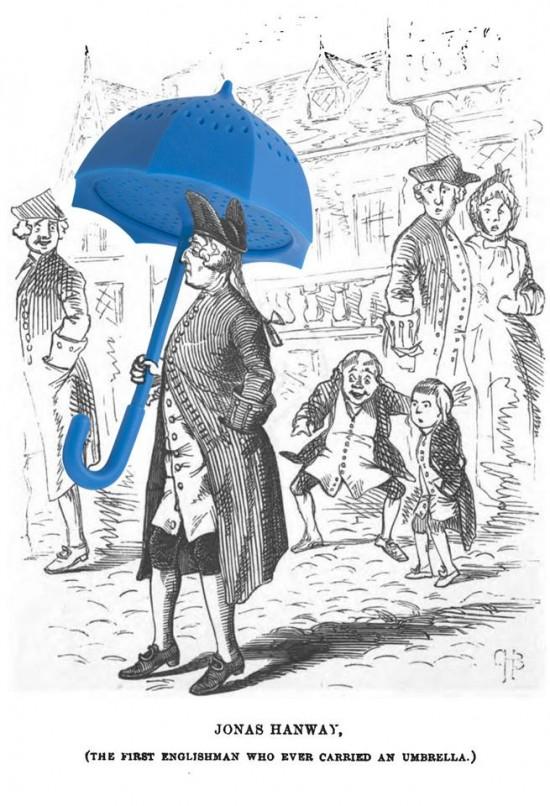 雨傘のティーストレーナー