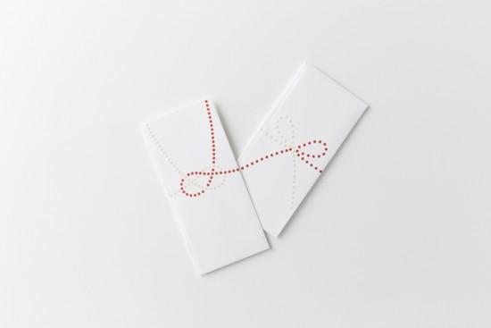 単純なドットのみで表現した「のし袋」「 dot envelope」2