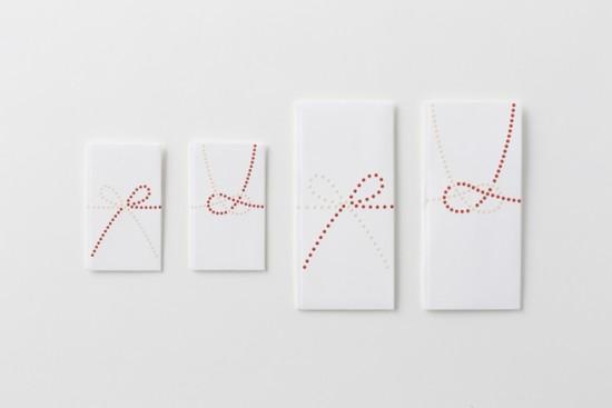 単純なドットのみで表現した「のし袋」「 dot envelope」4