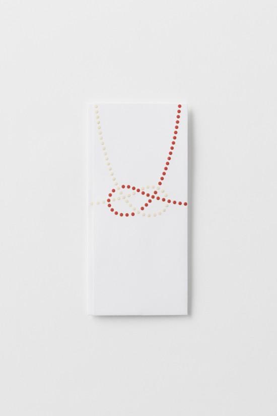 単純なドットのみで表現した「のし袋」「 dot envelope」6