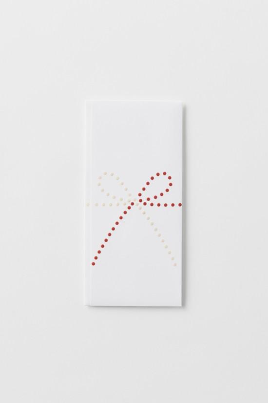 単純なドットのみで表現した「のし袋」「 dot envelope」7