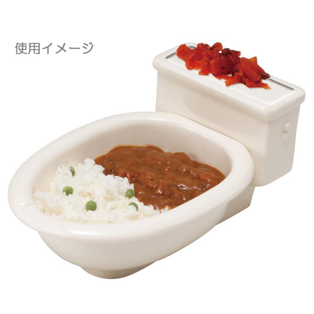 便器の形のカレー皿5