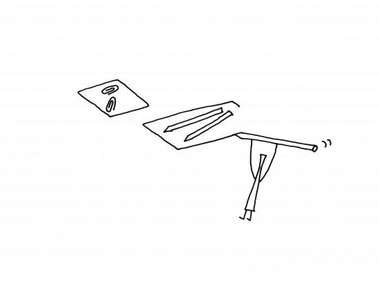 「器」ではなく、「輪郭線」によってデスク上の小物を整理するトレー「 outline tray」