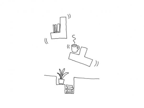 使う人やみるひとに緊張感を与えるコーヒーテーブル「 tetris」