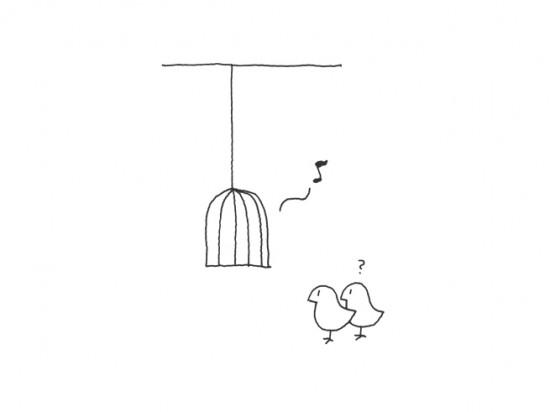 鳥かごのような形のスピーカー「music-cage」