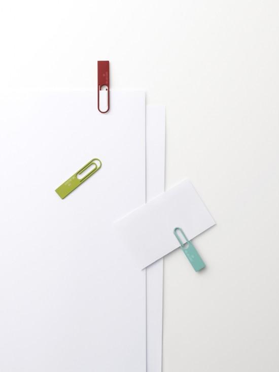 紙をとめる「ペーパークリップ」の形をしたUSBメモリ4