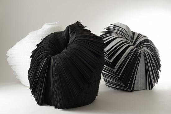 捨てられた紙を-「剥いて」つくったイス「cabbage chair」11