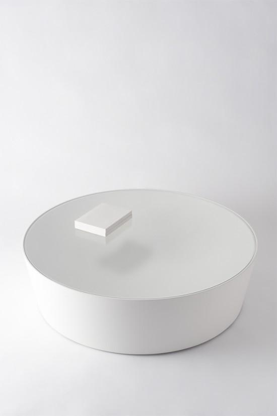 テーブルの上に置いたものが浮遊してみるローテーブル2