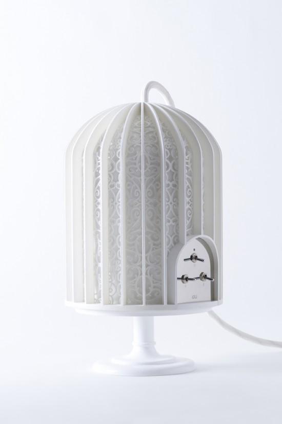 鳥かごのような形のスピーカー「music-cage」2