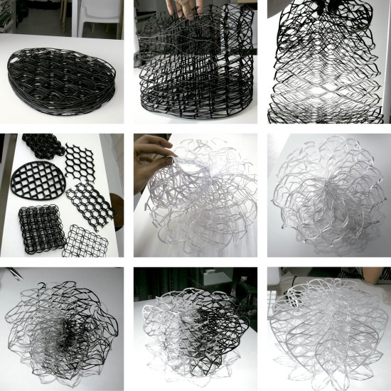 ダイヤモンドの結晶構造を活かして三次元プリンターで 「出力」されたイス「diamond chair」11