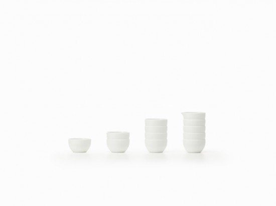 積み重ねられたように見える器「stack-sake set」2