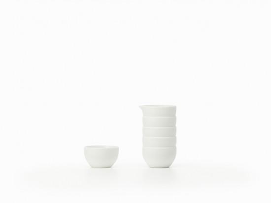積み重ねられたように見える器「stack-sake set」3