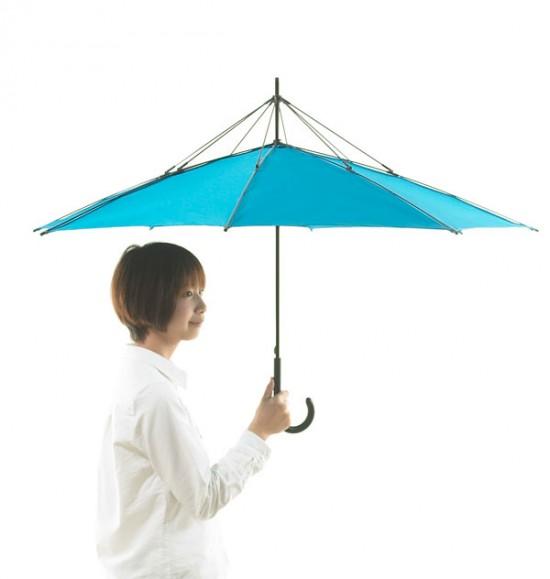 デザイナー梶本博司氏がデザインした、実用性を考えたら逆さまになった、逆さまの傘「UnBRELLA 」4