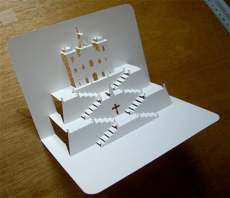 立体的な名刺。3Dビジネスカード