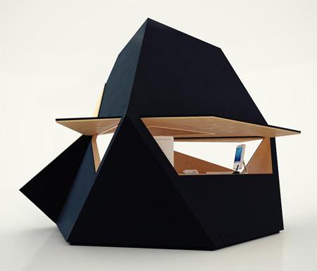 テトラの形をしたおしゃれなおうちTetra Shed