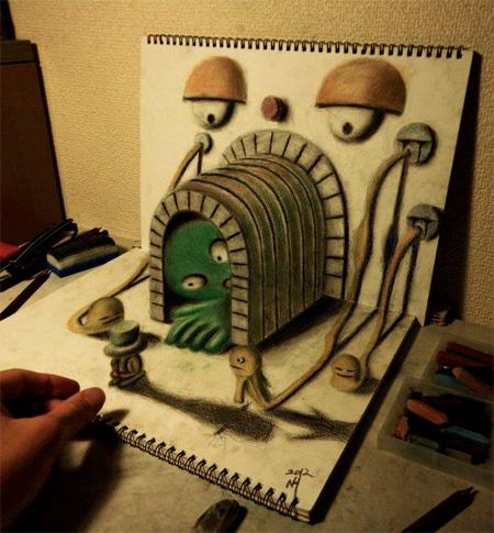 スケッチブックから飛び出してみる3Dアート