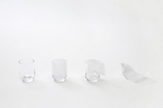 パッチワークで生まれたグラス