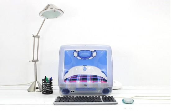 iMacで出来た猫の為のおしゃれなベッド「Upcycled Apple Computer Pet Bed」