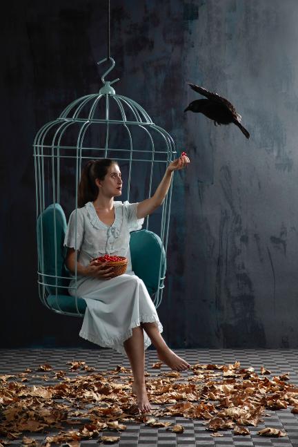 鳥かごの椅子