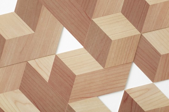 雑誌「pen」の綴じ込み付録のためにデザインした、紙でできた積み木「たいらな積み木」
