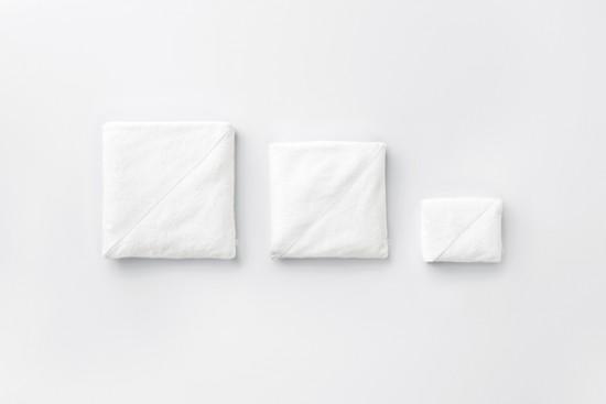 キレイに畳めるポケットのついた タオル