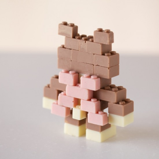 チョコレートで出来たレゴブロック