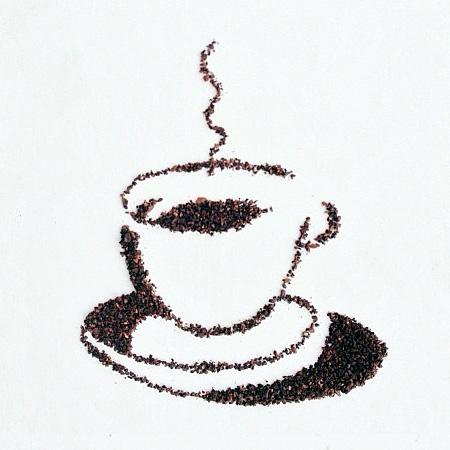 コーヒー豆を使ってつくったコーヒーアート