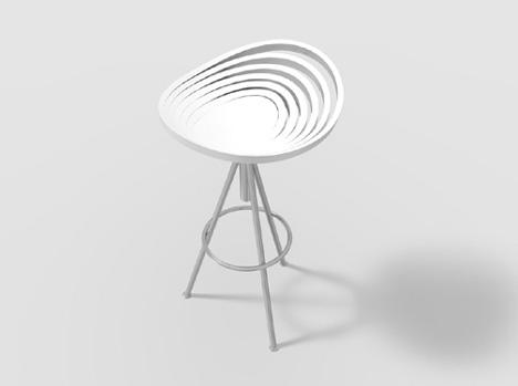 たまねぎの形をした椅子