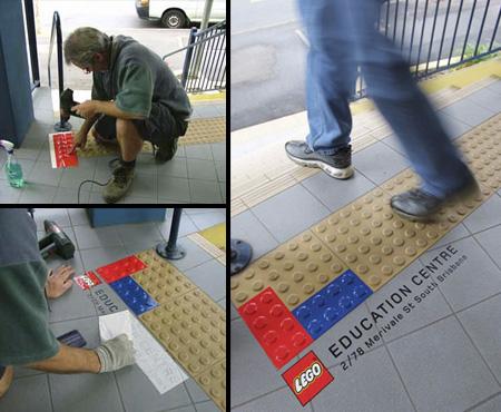 クリエイティブなレゴの広告