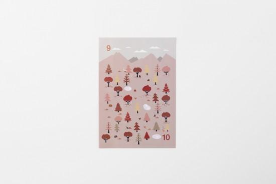 シール状の日めくりカレンダー