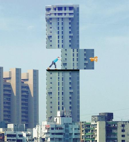 【世界の広告】クリエイティブなビル広告