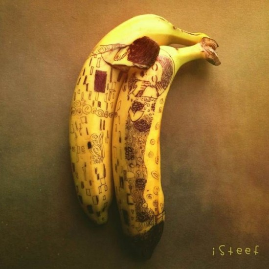 とっても驚きの素敵なバナナアート。