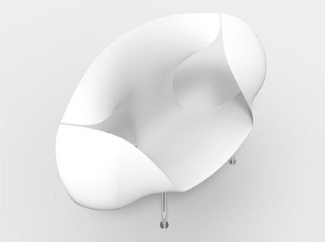 ゴム製ヘラのように薄く、弾性に富むボディを持つ椅子「sparrow」 注文住宅、家づくりのことならone Project