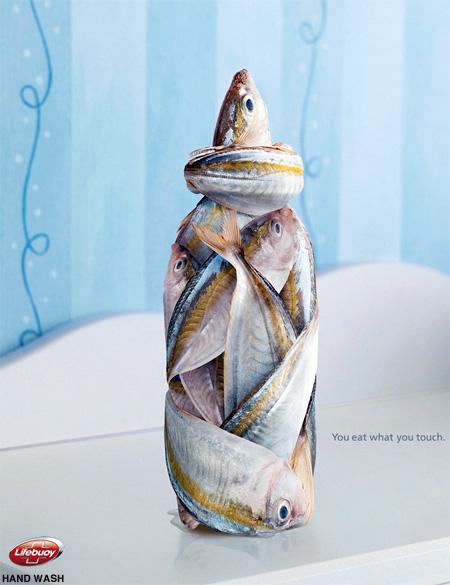 ユニリーバーのソープ (石鹸)「Lifebuoy」の広告