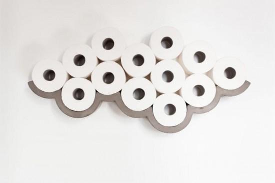 雲の形をしたトイレットペーパーホルダー「CLOUD Toilet paper shelf」