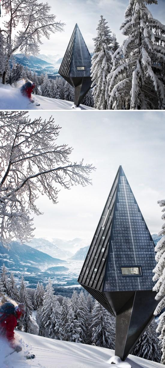 木の形をしたツリーハウス